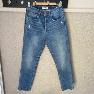 Aritzia Denim Forum The Yoko High Rise Slim Jeans